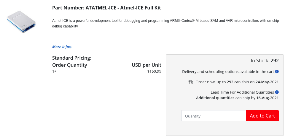 ATAtmel-ICE Price
