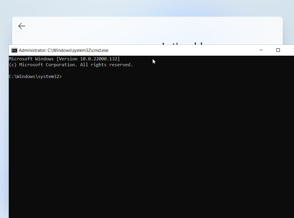 Windows 11 OOBE command prompt